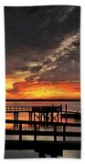 Artistic Black Sunset Beach Towel
