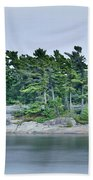 Artistic Granite And Trees  Beach Towel