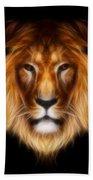 Artistic Lion Beach Towel