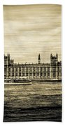Artistic Vision Of Elizabeth Tower Big Ben And Westminster Beach Towel