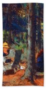 Artists In The Woods Beach Towel
