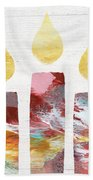 Artists Menorah- Art By Linda Woods Beach Towel