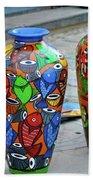 Artwork Large Vase Beach Towel