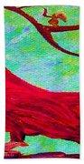 Festive Cardinal Beach Towel