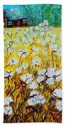 Cotton Fields Back Home Beach Towel by Eloise Schneider