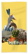 Thanksgiving Indian Ducks Beach Towel