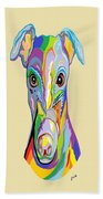 Greyhound Beach Towel