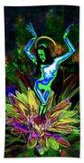 St. Mary Of The Lotus Sta. Maria De El Loto Beach Towel