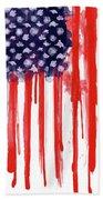 American Spatter Flag Beach Towel by Nicklas Gustafsson