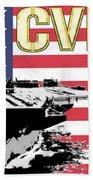 Cvn-71 Uss Theodore Roosevelt Beach Towel