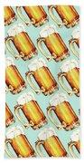 Beer Pattern Beach Towel