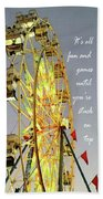 Wheel Of Fortune With Phrase Beach Towel