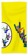 American Sign Language Love Hands Beach Towel