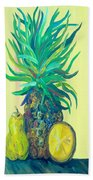 Pear And Pineapple Beach Towel