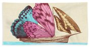 Butterfly Ship Beach Towel