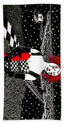 Scarlet Checkers Beach Towel