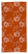 Orange Seaweed Marine Art Furcellaria Fastigiata Beach Towel