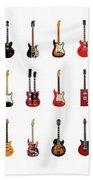 Guitar Icons No2 Beach Towel