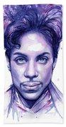Prince Purple Watercolor Beach Sheet
