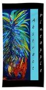 Abstract Pineapple Beach Towel