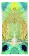Abstract Art - Calm - Sharon Cummings Beach Sheet