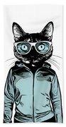 Cool Cat Beach Towel