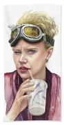 Jillian Holtzmann Ghostbusters Portrait Beach Towel