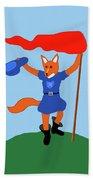 Reynard The Fairy Tale Fox Beach Sheet
