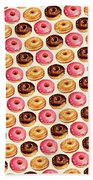 Donut Pattern Beach Towel