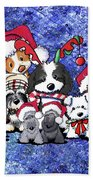 Kiniart Christmas Party Beach Sheet
