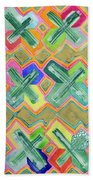 Colorful X-pattern  Beach Towel