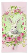 Spring Bunny Beach Towel by Wendy Paula Patterson