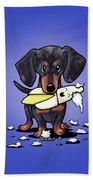Dapple Doxie Destroyer Beach Towel