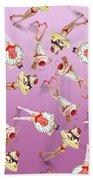 Ice Cream Woman 4 Beach Sheet