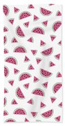 Watermelon Pattern Beach Towel by Alina Krysko