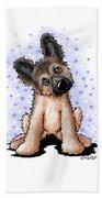 Curious Shepherd Puppy Beach Sheet