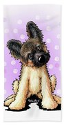 Kiniart Shepherd Puppy Beach Towel