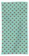 Burger Isometric - Plain Mint Beach Towel