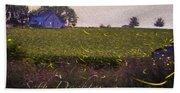 1300 - Fireflies Impression Version Beach Towel