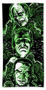 House Of Monsters Frankenstein Dracula Phantom Horror Movie Art Beach Towel