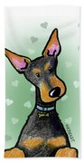 Dobie With Love Beach Towel