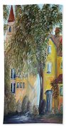 Morning In The Old Country Beach Towel by Eloise Schneider