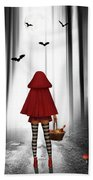 Little Red Riding Hood And The Wolf Beach Towel