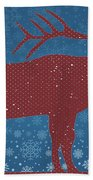 Seasonal Greetings Artwork Beach Towel