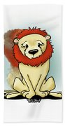 Lion Peaceful Reflection  Beach Towel