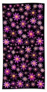 Purple Polka Beach Towel