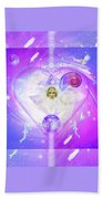 Heart Of The Violet Flame Beach Towel