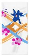 Abstract Garden #3 Beach Towel by Bee-Bee Deigner
