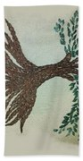 Embroidered Tree Beach Towel