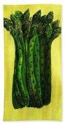 Fresh Asparagus Beach Towel